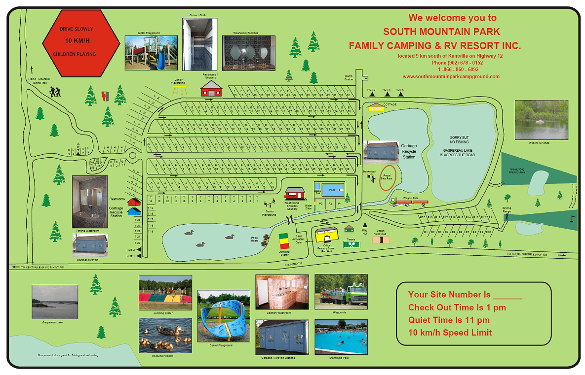 South mountain park camping park rv resort kentville for Camping grounds with cabins